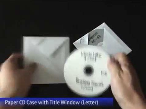 Cd Envelope Origami - easy paper cd with title window letter size