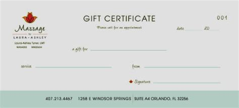 Massage Gift Card Template - site unavailable
