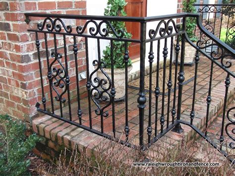 Screen Patio Cost Custom Wrought Iron Residential Railings Raleigh Wrought