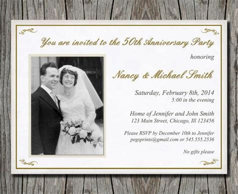 1000  ideas about 50th Anniversary Invitations on