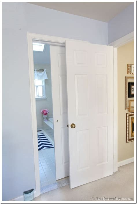 doors for bathrooms bathroom gets a makeover using rolling door hardware