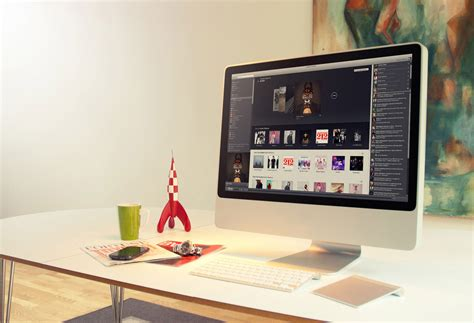 Imac On Desk by Wonderful Home Workspaces