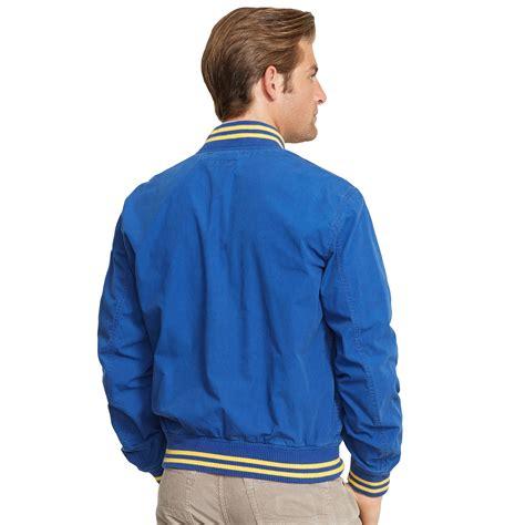 Jaket Basball Merah Putih Polos 1 polo ralph cotton poplin baseball jacket in blue for stadium royal lyst