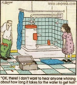 funny hot water jokes water heater cartoon google search plumbing humor
