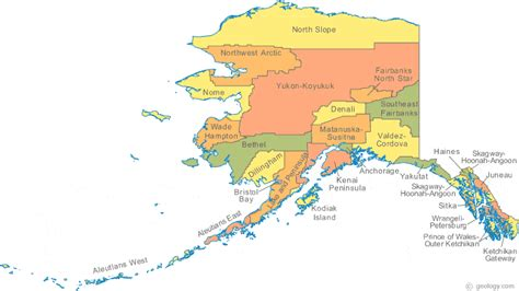 map alaska map of alaska