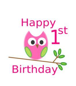1st Birthday Clipart owl 1st birthday clip at clker vector clip