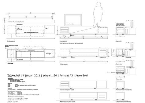 tv meubel maken tekening meubel ontwerp jacco bruil