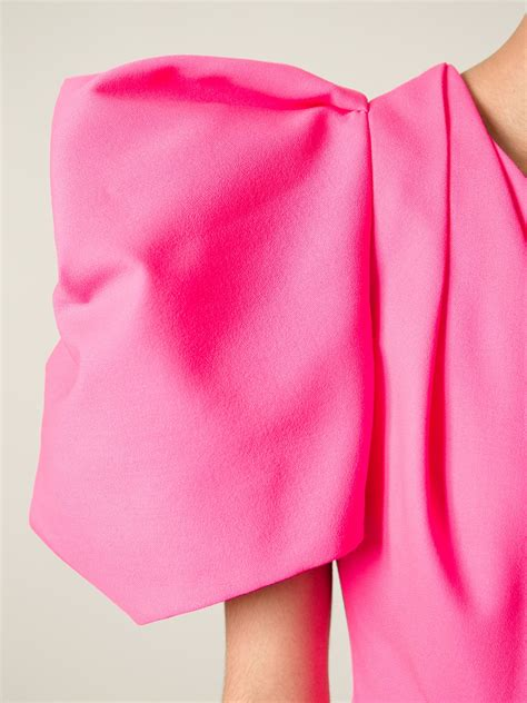 St Flowina Pink T3010 1 lyst laurent one shoulder dress in pink
