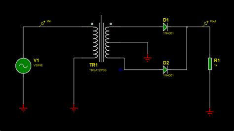 diode bridge proteus power supply location of diode bridge on transformer circuit electrical engineering stack