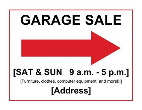 garage sale sign template garage sale sign templates until i can put it
