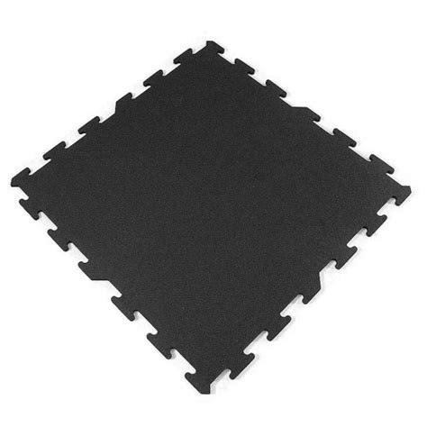 black interlocking rubber tiles 2x2 ft interlocking
