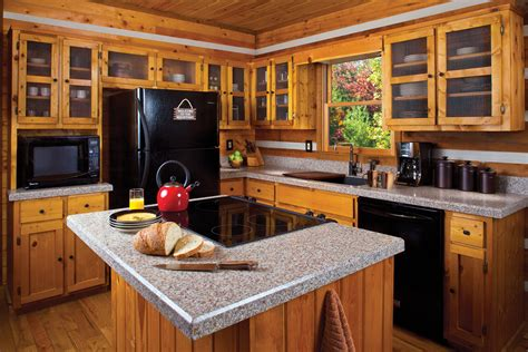 Cabin Kitchen Design Counter Top For Log Cabin Kitchen Best Home Decoration World Class