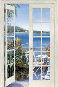 french wall murals french doors seaside peel and stick wall mural