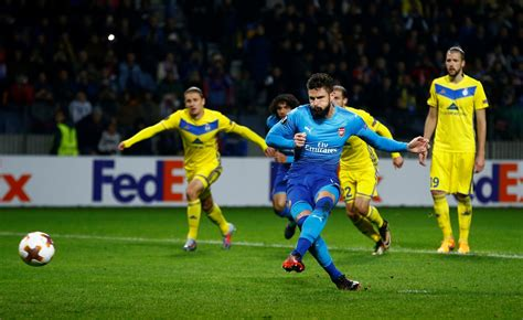 arsenal bate arsenal overcome bate in six goal thriller as olivier