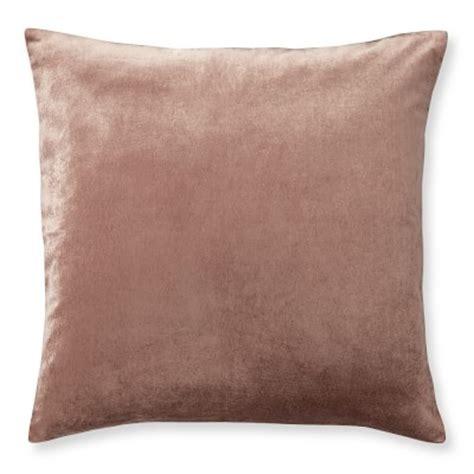 velvet pillow cover apricot williams sonoma