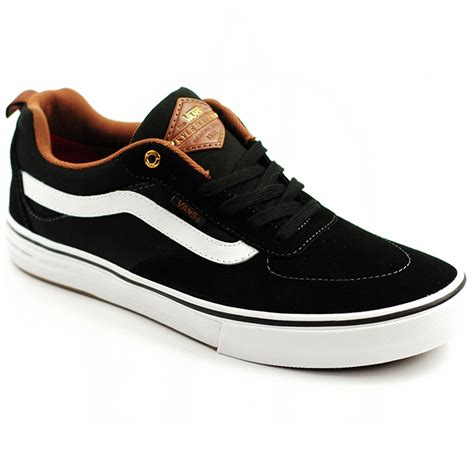 black white brown vans kyle walker pro black white brown forty two skateboard shop