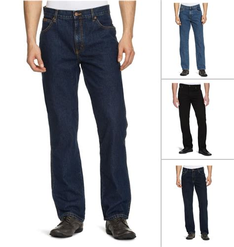 Wrangler Standart Garment wrangler new s regular fit black blue darkstone stonewash denim ebay