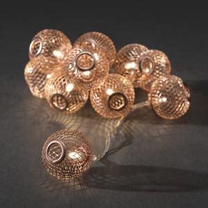 balletjes kerstverlichting konstsmide led decoratieve lichtsnoer koperen bollen