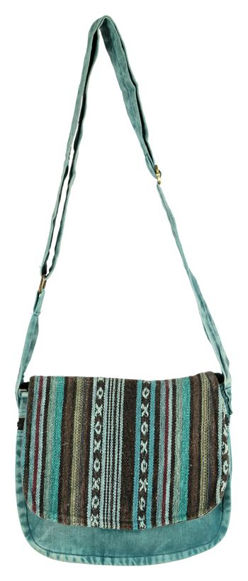 Striped Flap Crossbody Bag nepali striped crossbody bag