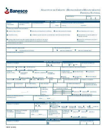 planilla de solicitud credinomina banco bicentenario solicitud de credito persona natural del banco