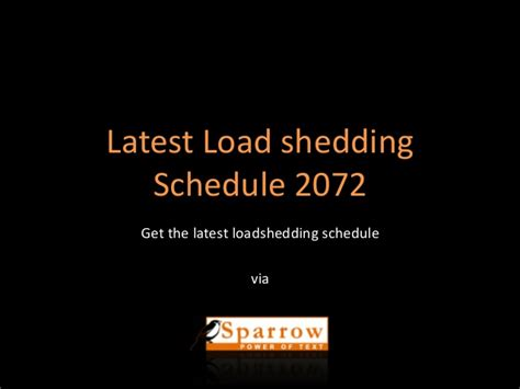 Report On Load Shedding by Load Shedding Schedule 2072