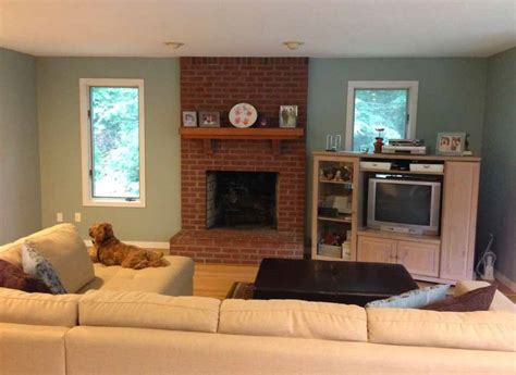 room fireplace mesmerizing paint colors with red brick fireplace