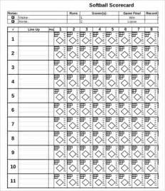 Slo Scoring Template by Softball Score Sheet 9 Free Pdf Documents
