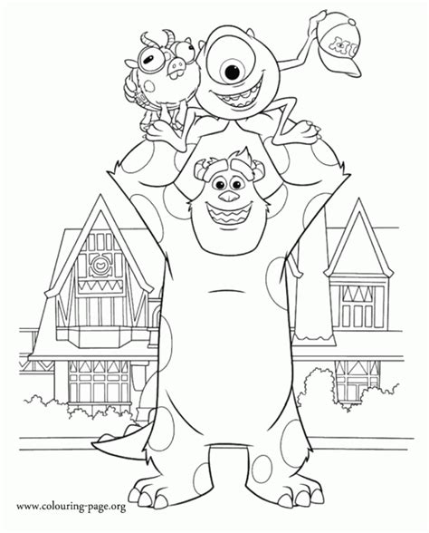 monsters inc coloring pages pdf boo sullivan monsters inc 258100 monsters inc coloring