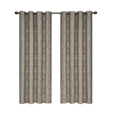 curtain lenths eclipse nadya blackout black polyester curtain panel 84