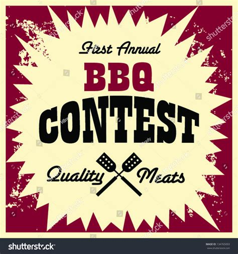 Bbq Giveaway - vintage bbq contest image stock vector 134765093 shutterstock