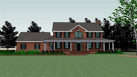 brick house with wrap around porch but way smaller my