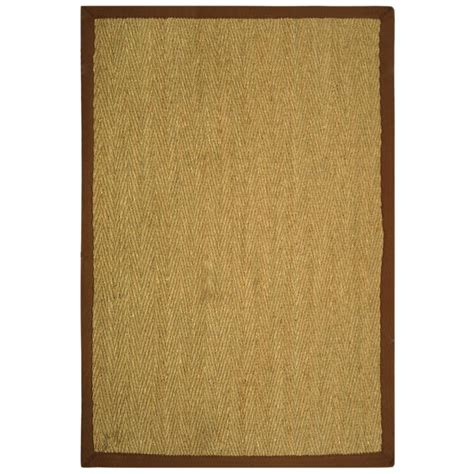 home depot seagrass rug nuloom elijah seagrass with border beige 5 ft x 8 ft area rug bhsg01a 508 the home depot