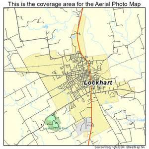 aerial photography map of lockhart tx