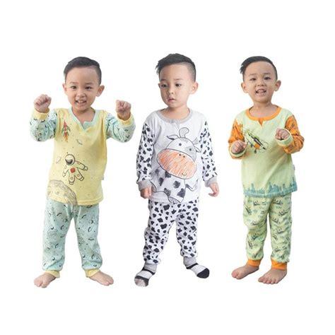 Piyama Kazel Boy jual kazel piyama boy baju tidur anak 3 pcs harga kualitas terjamin blibli