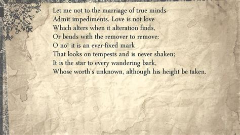 Sonnet 116 marriage theme books