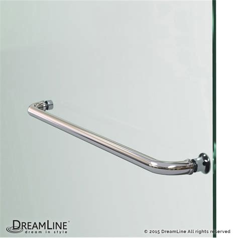 shower door towel bar aqualux hinged shower door