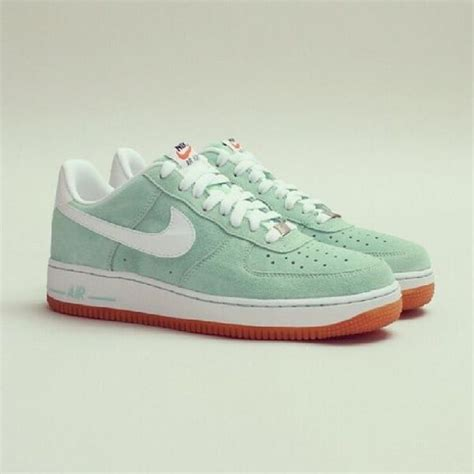 mint green nike sneakers shoes white green mint brown sneakers nike air nike