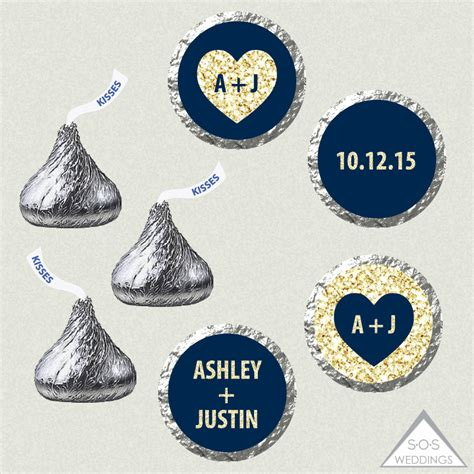 printable stickers for hershey kisses printable hershey kiss labels wedding kiss stickers navy and