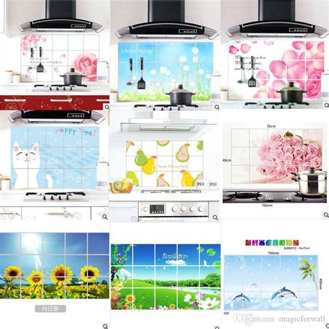colorful kitchen wall art with fake fruits walls kitchens and colorful kitchen wall decor sticker aluminum foil kitchen