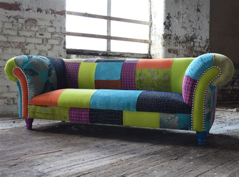 Chesterfield Patchwork Sofa - patchwork chesterfield sofa abode sofas