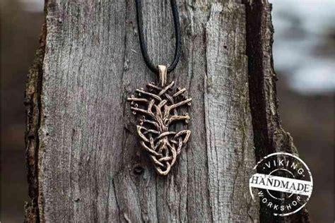 Handmade Bronze Jewelry - yggdrasil world tree bronze pendant handmade viking jewelry