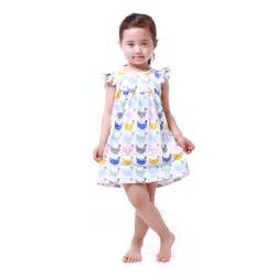 girls clothes wholesale colorful cartoon chicken dress