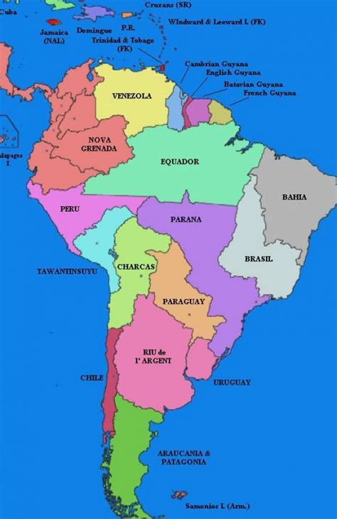 south america map capitals the gallery for gt speaking countries and