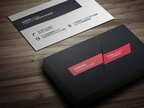 cool business card templates creative business card template free design resources
