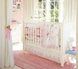 pink baby nursery nice pink bedding for pretty baby girl nursery from prottery barn kidsomania