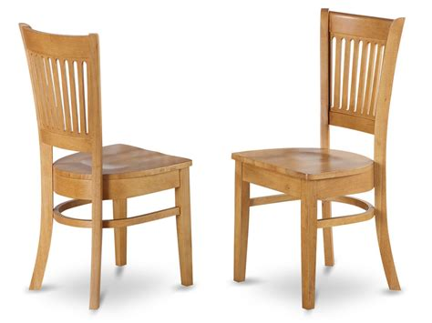 Oak Wood Dining Chairs Set Of 2 Vancouver Dinette Kitchen Dining Chairs W Plain Wood Seat In Light Oak Ebay