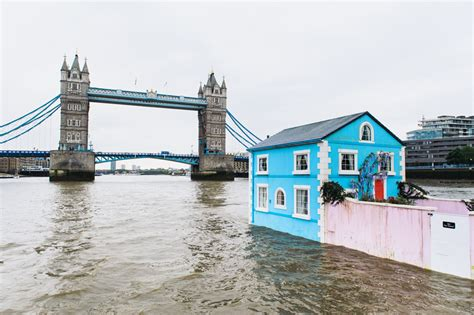 airbnb london uk airbnb s floating house sets sail along the river thames