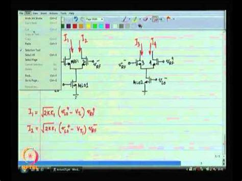 rf integrated circuits by dr shouribrata chatterjee mod 09 lec 25 multiplier fundamentals