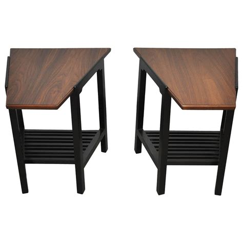 wedge accent table dunbar wedge side tables by edward wormley for sale at 1stdibs