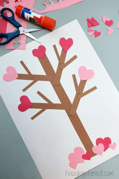 s day paper crafts valentine s day tree paper craft housing a forest